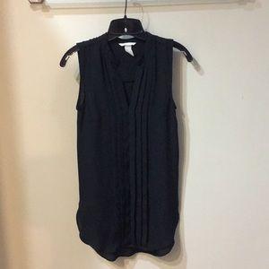 Black chiffon tunic blouse